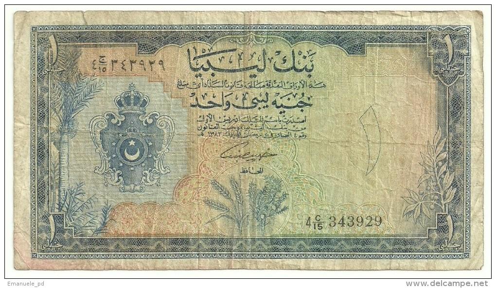 Libya 1 Pound 1963 - Libya