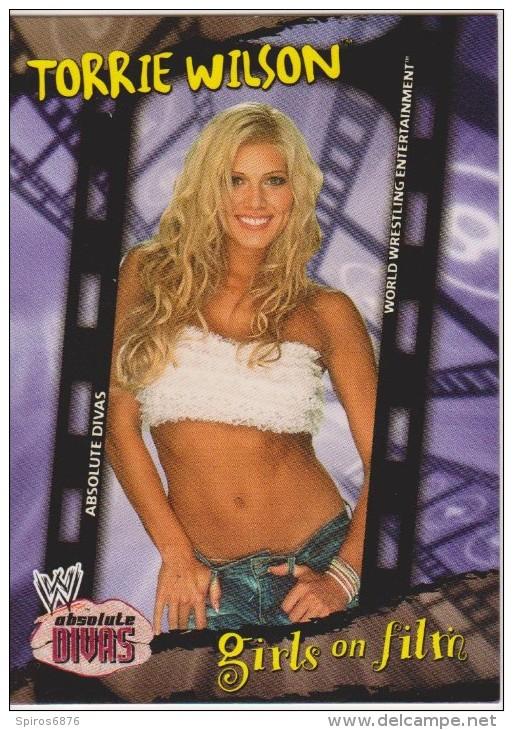 WWE 2002 Fleer Card TORRIE WILSON Absolute Wrestling Divas Girls On Film - Trading Cards