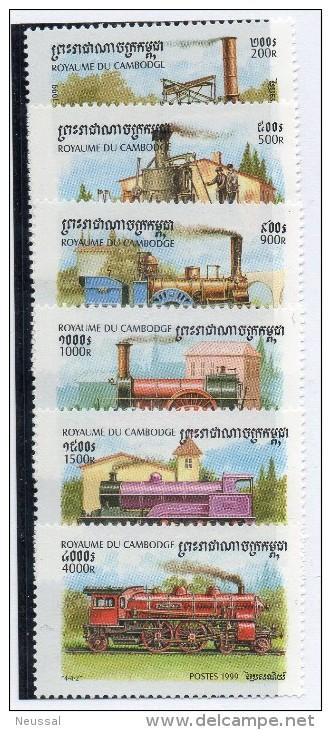 Serie Nº  1589/94  Camboya - Treni