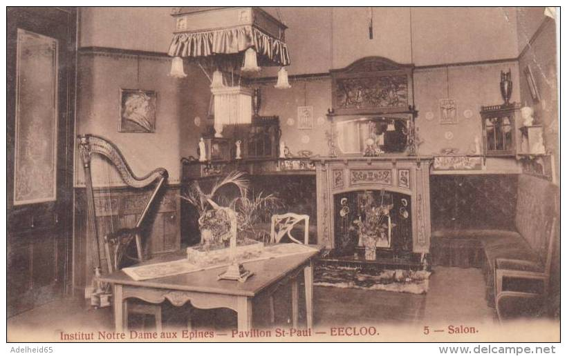 CPU30/   Eeklo Institut Notre Dame Aux Epines Pavillon St Paul Salon Met Harp, Harpe - Eeklo