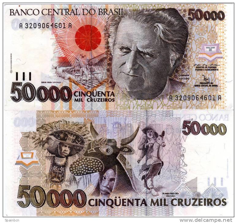 Brasil - Brasilien - Brazil      50000 Cruzeiros 1992 - Brasil