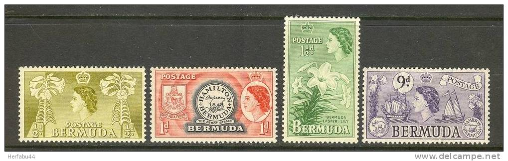Bermuda Stamps SC# 143-45,154 Mint CV$ 9.80 - Bermuda