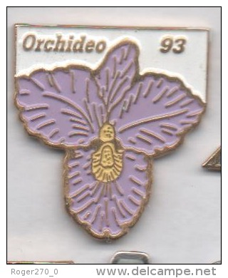 Beau Pin's , Fleur , Orchideo 93 , Orchidée - Pin's & Anstecknadeln