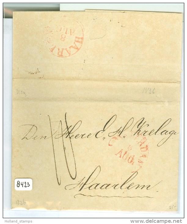 E.o. BRIEFOMSLAG Uit 1836 V AMSTERDAM  Naar HAARLEM (8423) - Nederland