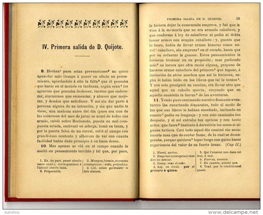 CLASSIQUES ESPAGNOLS  -  CERVANTES  -  ALAUX ET SAGARDOY  -  TOULOUSE  - 1907 - Littérature
