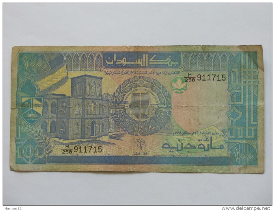 100 Hundred Sudanese Pounds  - SOUDAN - Bank Of Sudan. **** EN ACHAT IMMEDIAT **** - Soudan