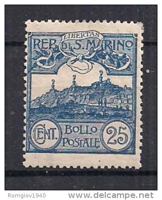 SAN MARINO 1903 CIFRA O VEDUTE SASS. 38 MNH VF - Nuovi