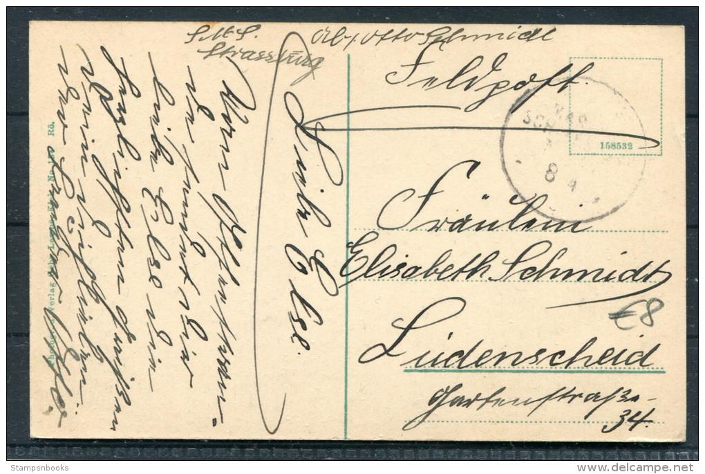 1905 Marine S.M.S. Karlsruhe Feldpost Postkarte - Warships