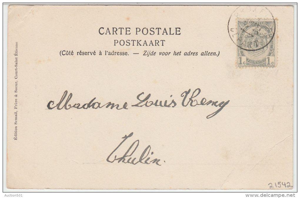 21542g ENTREE Du VILLAGE - EGLISE - Court-Saint-Etienne - Court-Saint-Etienne