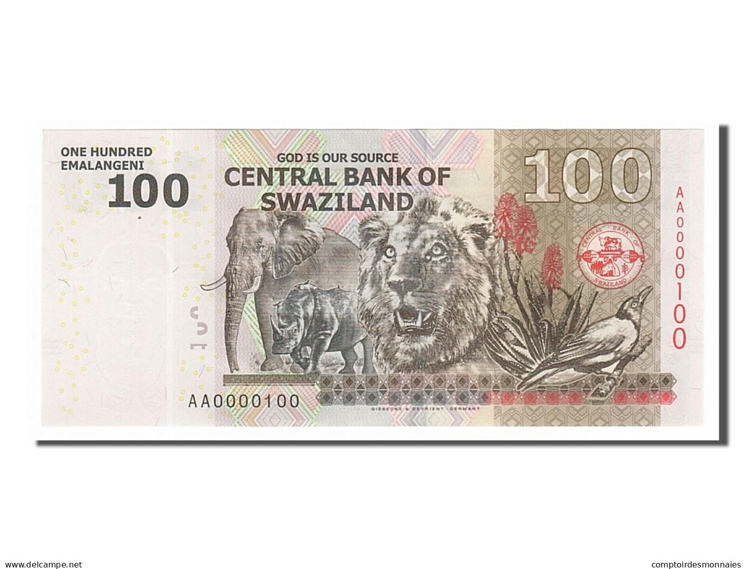 [#154886] Swaziland, 100 Emalangeni Type Mswati III - Swaziland