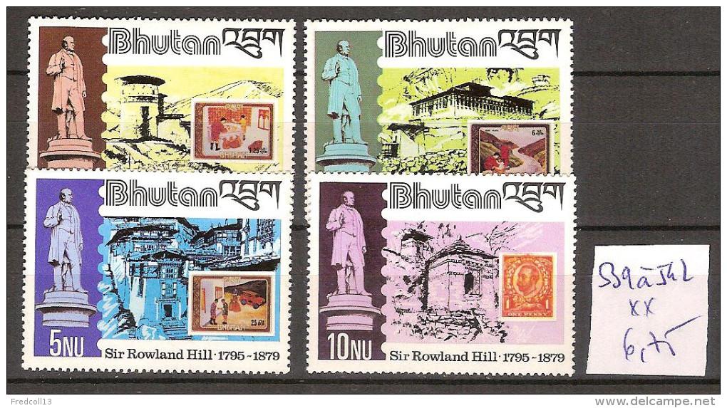 Bhoutan 539 à 542 ** Côte 6.75 € - Bhutan