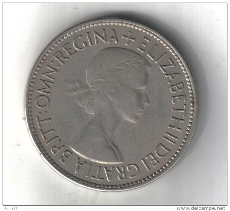 RedI - INGHILTERRA-ELISABETTA II-HALF CROWN -ANNO 1953 - 1902-1971 : Monete Post-Vittoriane