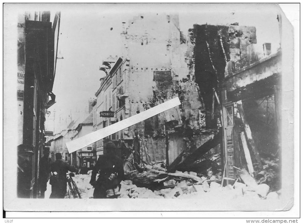Soissons Après Le Bombardement Aisne 1 Photo Légendée Avec Tampon Du Photographe 1914-1918 14-18 Ww1 WwI Wk - War, Military