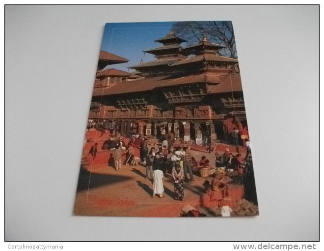 STORIA POSTALE FRANCOBOLLO Nepal Calcio  Kathmandu Durbar Square - Nepal