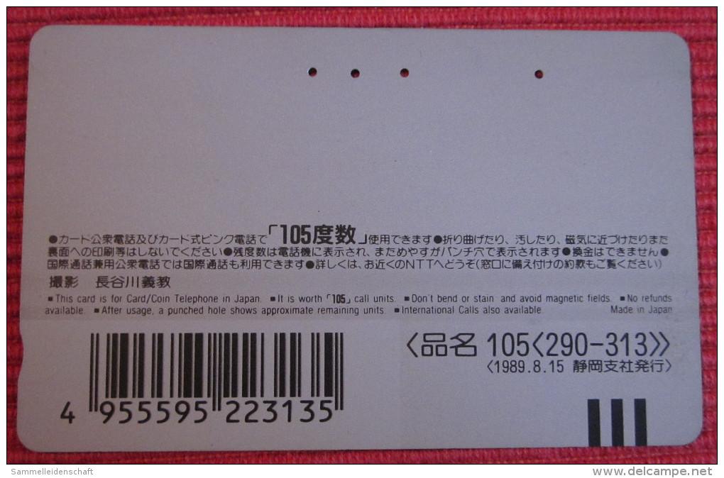Telefonkarte Asien Japan NTT Vulkan Berge Landschaft Telephone Card 1989 - Volcans
