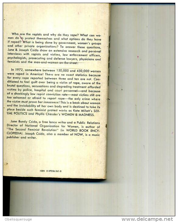 1973  RAPE  JUNE BUNDY CSIDA 240 PAGES - Livres, BD, Revues
