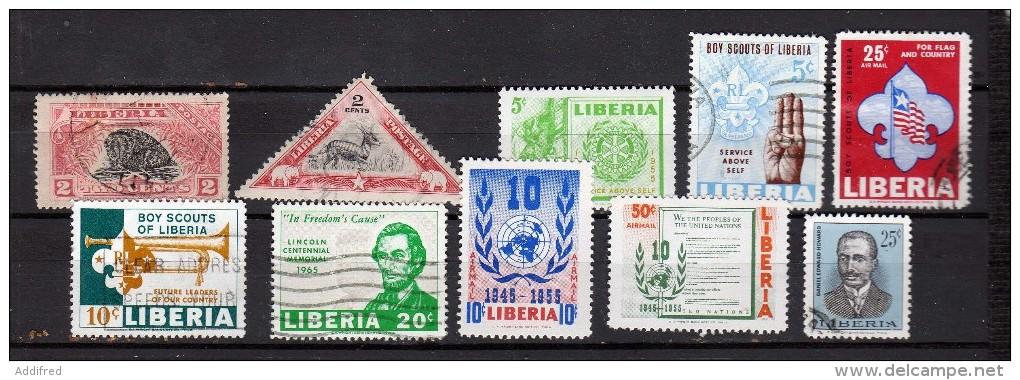 Liberia  10 Timbres.  Neufs Et Oblitérés - Liberia