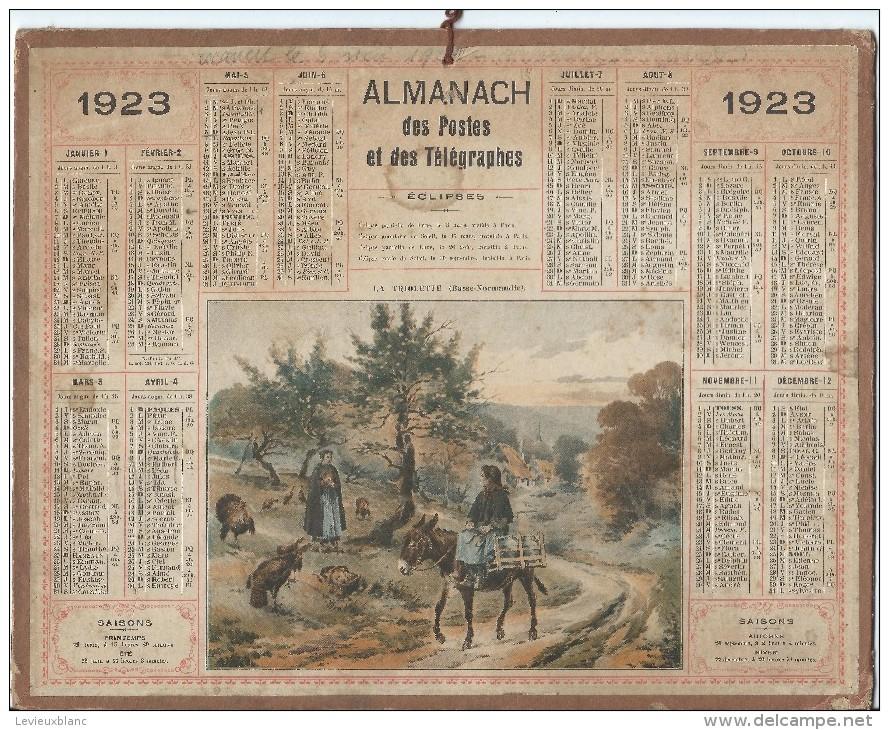 Format 21 X 26,7 Cm/ Almanach Des P Et T/La Triolette ( Basse Normandie) /Eure/ 1923    CAL147 - Calendriers