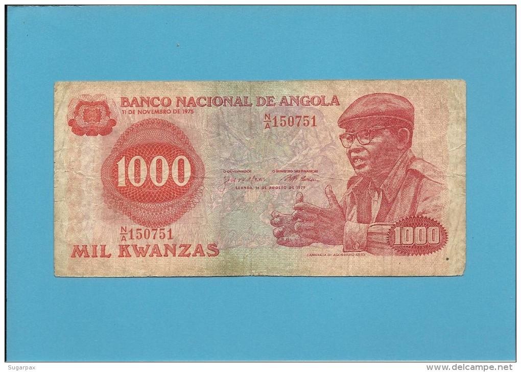 ANGOLA - 1000 KWANZAS - 14.08.1979 - P 117 - CAMARADA DR. AGOSTINHO NETO - Angola