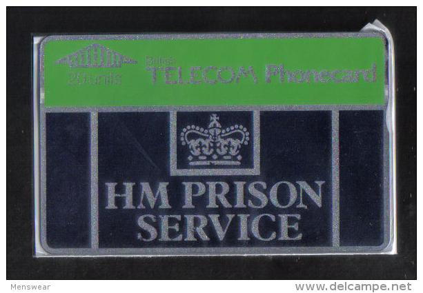 U.K. BT  HM PRISON SERVICE  MINT - LIGHT BLUE  -  ( 20 UNITS BIG  ) - Ver. Königreich
