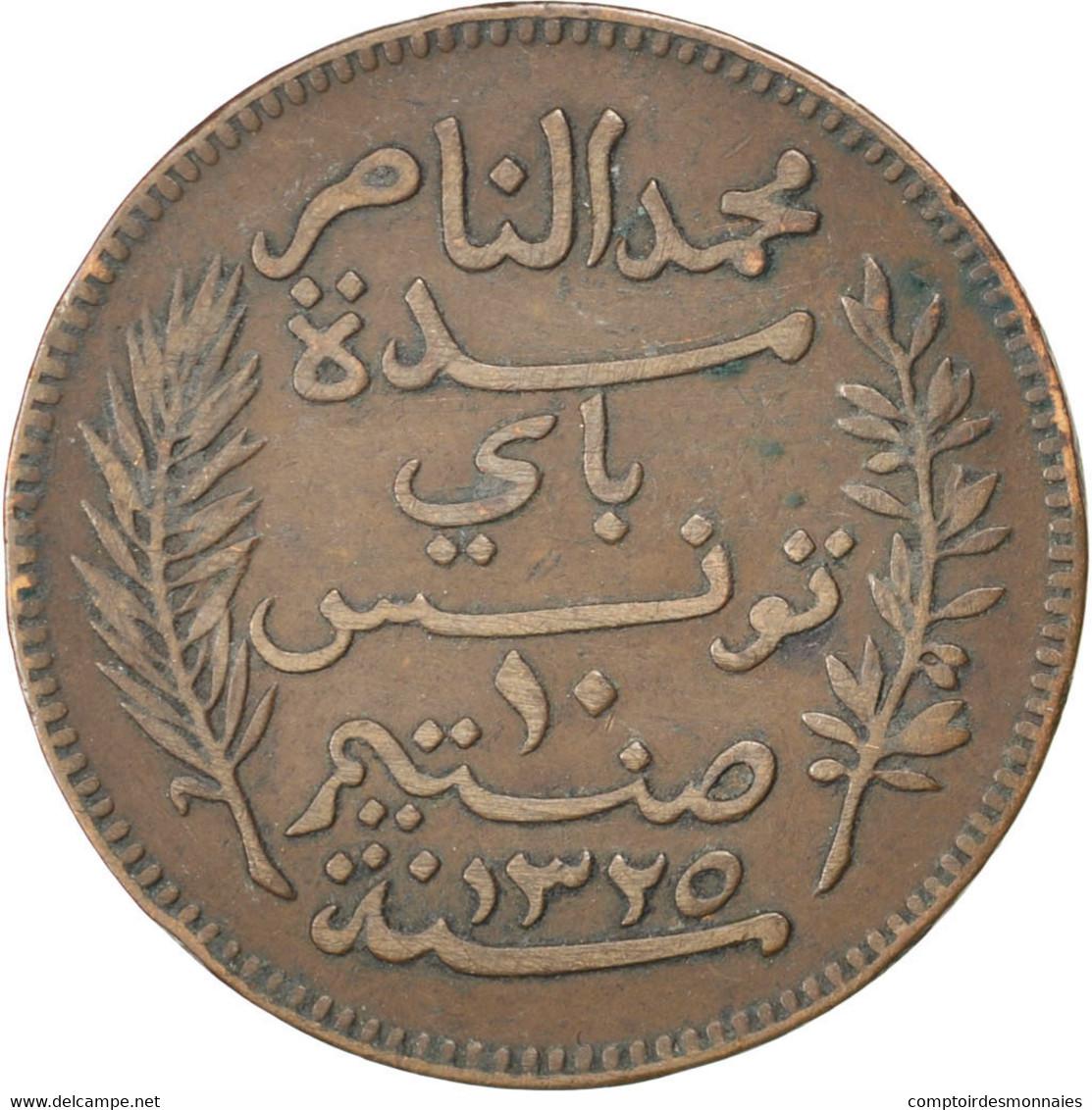 [#32763] Tunisie, Muhammad Al-Nasir Bey, 10 Centimes, 1907, KM 236 - Tunisie