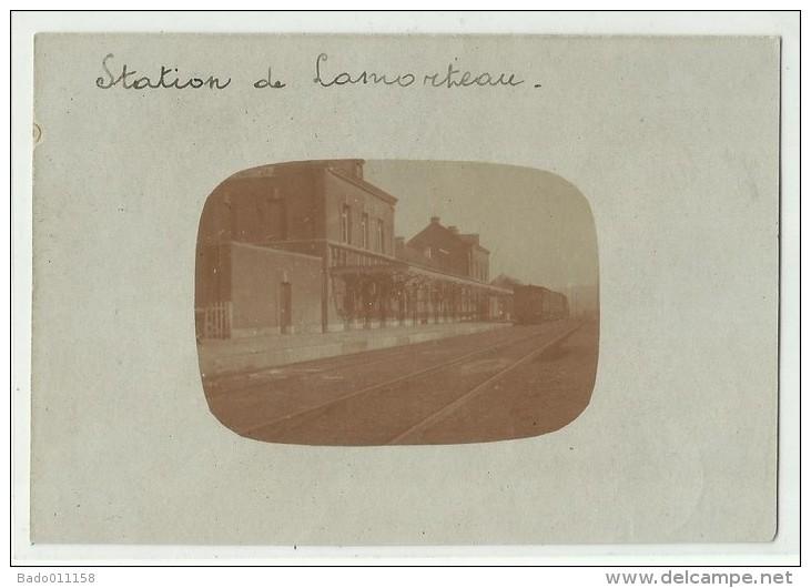 Station De LAMORTEAU - Carte Photo écrite Le 8/9/1922 - Rouvroy