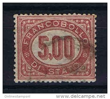 Italy: FrancobollI Di Stato - Servizio 1875 Mi 7 Sa 7 Used - 1861-78 Vittorio Emanuele II