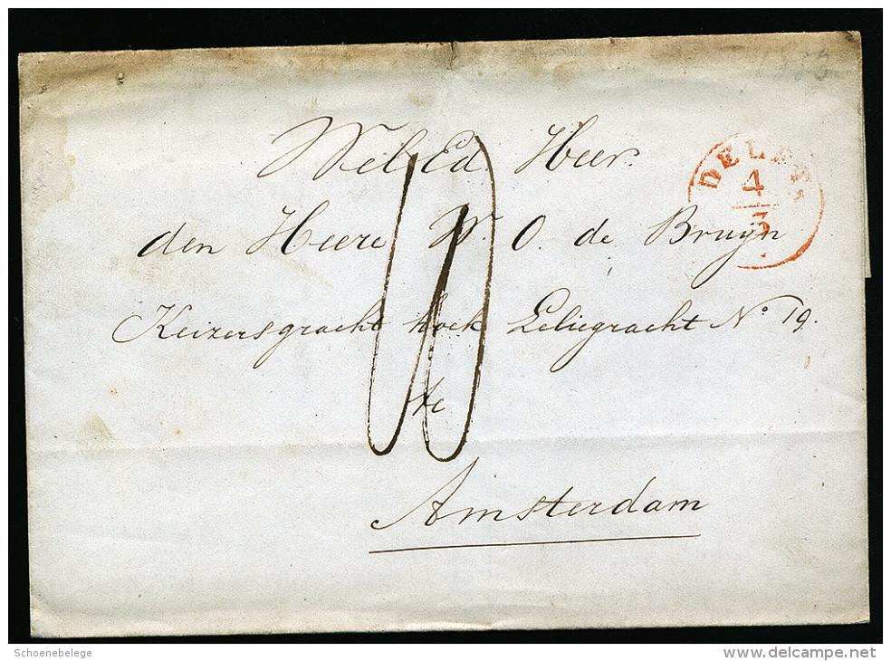 A2670) Niederlande Netherlands Brief Von Delft Nach Amsterdam - Niederlande