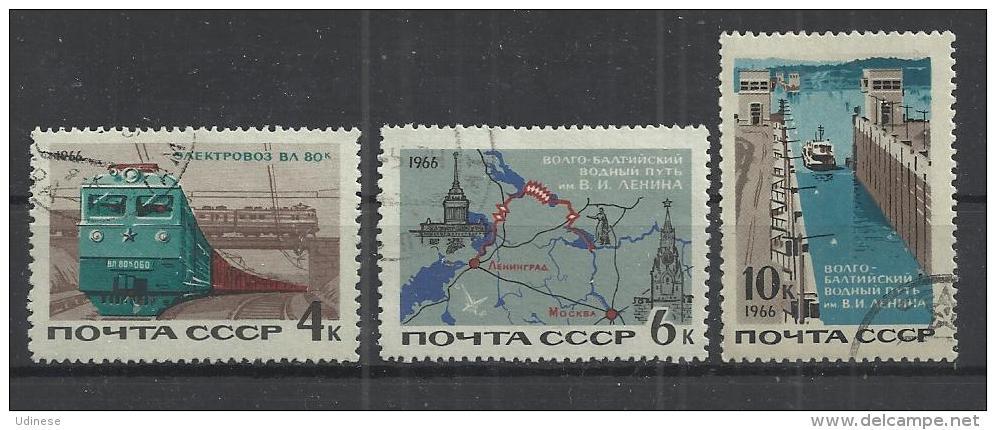 EX USSR 1966 - TRANSPORTS - CPL. SET - USED OBLITERE GESTEMPELT USADO - Transports