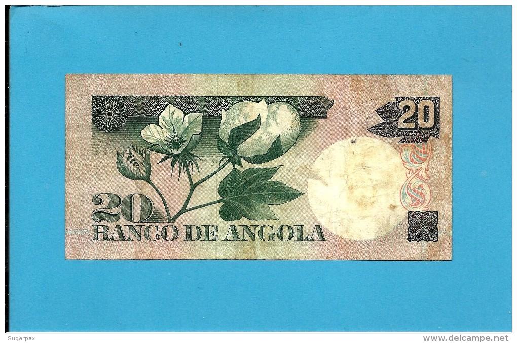 ANGOLA - 20 ESCUDOS - 10.06.1973 - P 104 - LUIZ DE CAMÕES - PORTUGAL - Angola