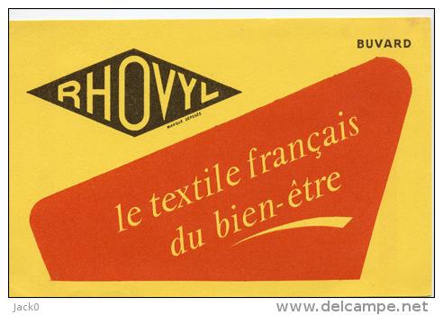 Buvard  Marque  RHOVYL  Le  Textile  Français  Du  Bien - être - Colecciones & Series
