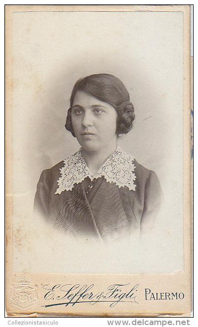 $3- 2988- Castroreale Foto Autenticata Con Marche - Carta Identità Regno 1914 - Messina - Foto Seffer Palermo - Documenti Storici