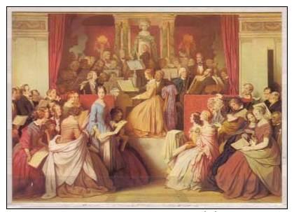 Moritz Von Schwind , Eine Symphonie , Ausschnitt , 1852 , Leinwand Oben Halbkreisbogen , München Neue Pinakothek - Paintings