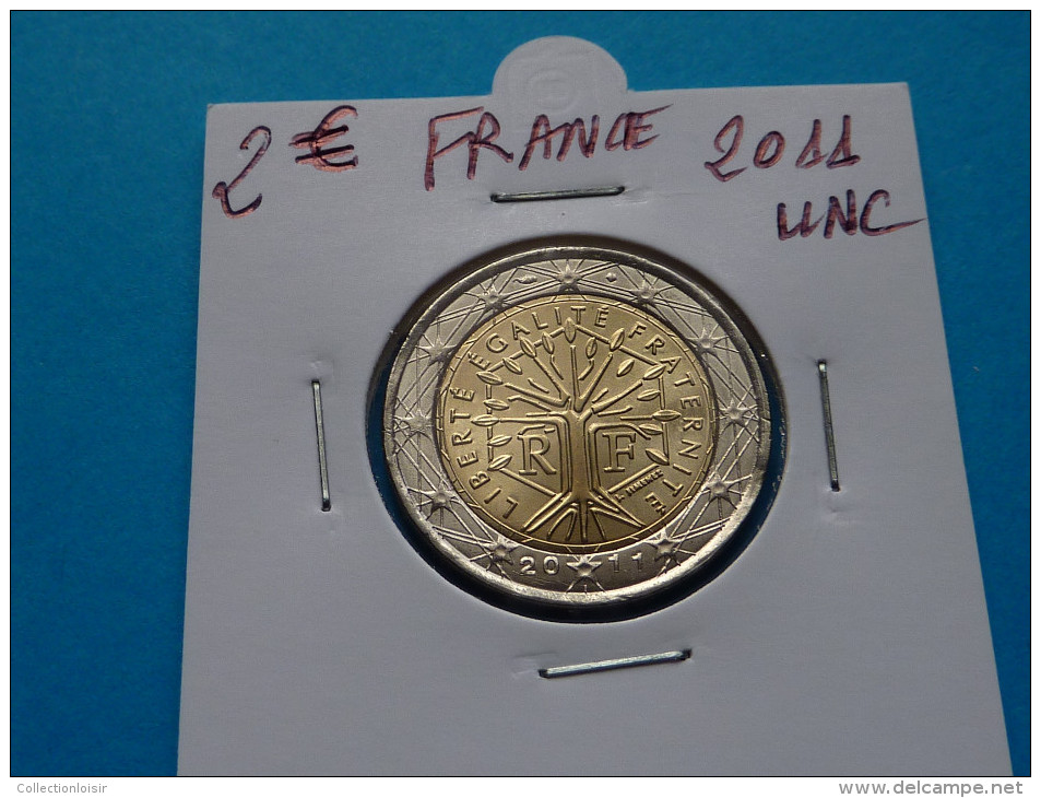 ANNEE  RECHERCHEE !!!   2  EURO  FRANCE  2011 Unc  ( 4 Photos ) - France