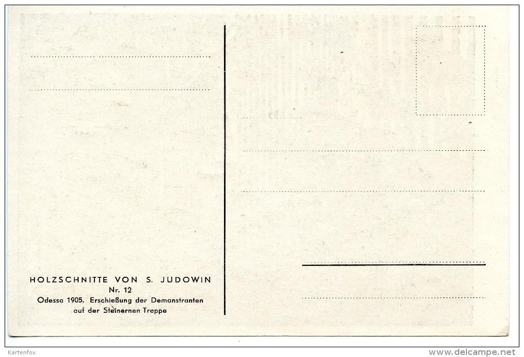 Odessa 1905,Holzschnitt Salomon Judowin, Jude, Ukraine, Erschießung Auf Der Steinernen Treppe - Ohne Zuordnung
