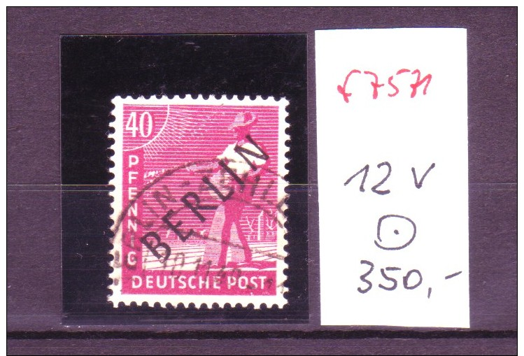 Berlin Nr.  12 V    O (f7571  ) Siehe Scan  ! - [5] Berlin
