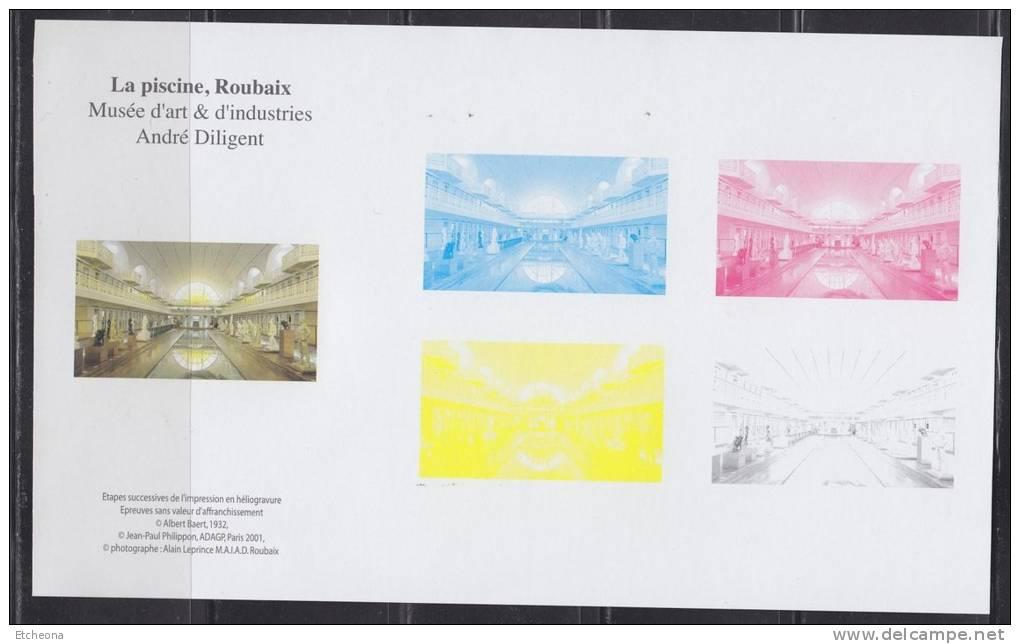 = La Piscine Roubaix Musée D'Art & D'industries André Diligent Etapes Couleurs Impression Héliogravure Bloc Gommé N°4453 - Blocs & Feuillets