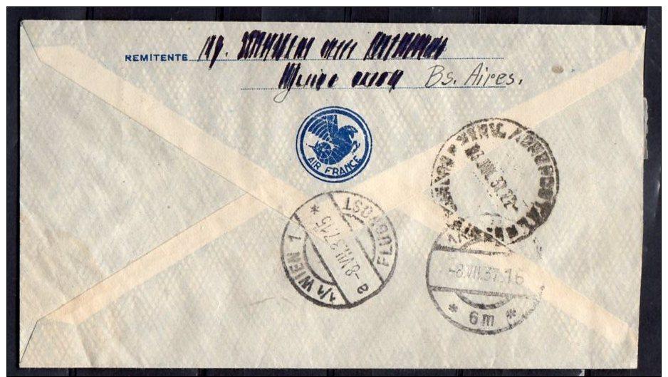Better Cover To Switzerland 1937 (za128) - Argentina