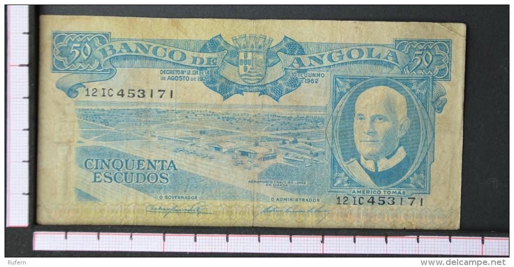 ANGOLA  50  ESCUDOS  1962     -    (Nº06556) - Angola