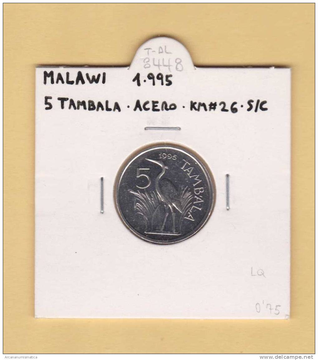MALAWI   5  TAMBALA  1.995   ACERO   KM#26    SC/UNC      T-DL-8448 - Malawi