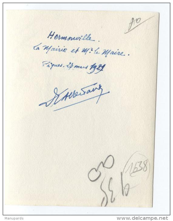 51 HERMONVILLE : PHOTO / LA MAIRIE ET Mr LE MAIRE / 27 MARS 1921................ - France