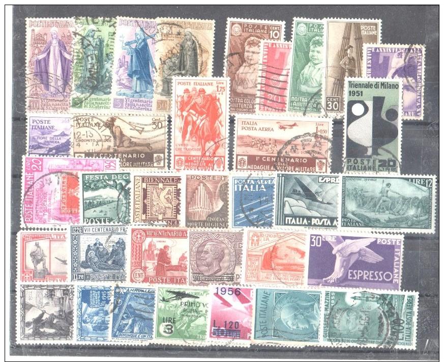 Insieme Di Francobolli Repubblica E Regno Tutti Senza Difetti - 1971-80: Usati