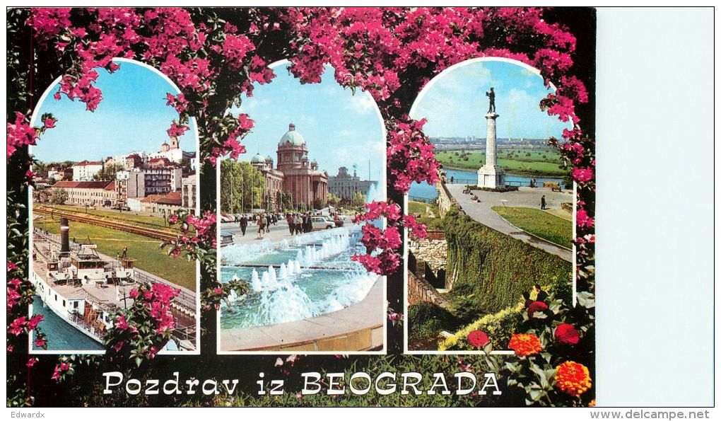 Beograd, Serbia Postcard Used Posted To UK 1990 Stamp - Serbia