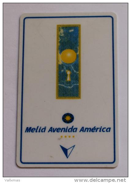 Llave De Hotel Melia Avenida America (Madrid)  - Key Card - Tarjetas Telefónicas