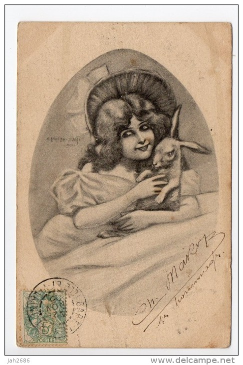 CPA Illustrateur LOEFFLER LOVATI 1901 - Art Nouveau - Thème Lapin - LOFFLER LOEFLER - Loeffler