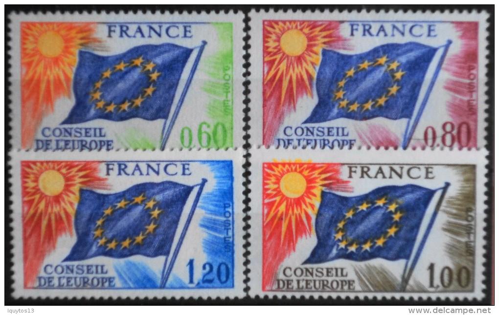 FRANCE 1975/76  - Du N° 46 Au 49  - 4 Timbres  NEUFS** Y&T 10,50€ - Neufs