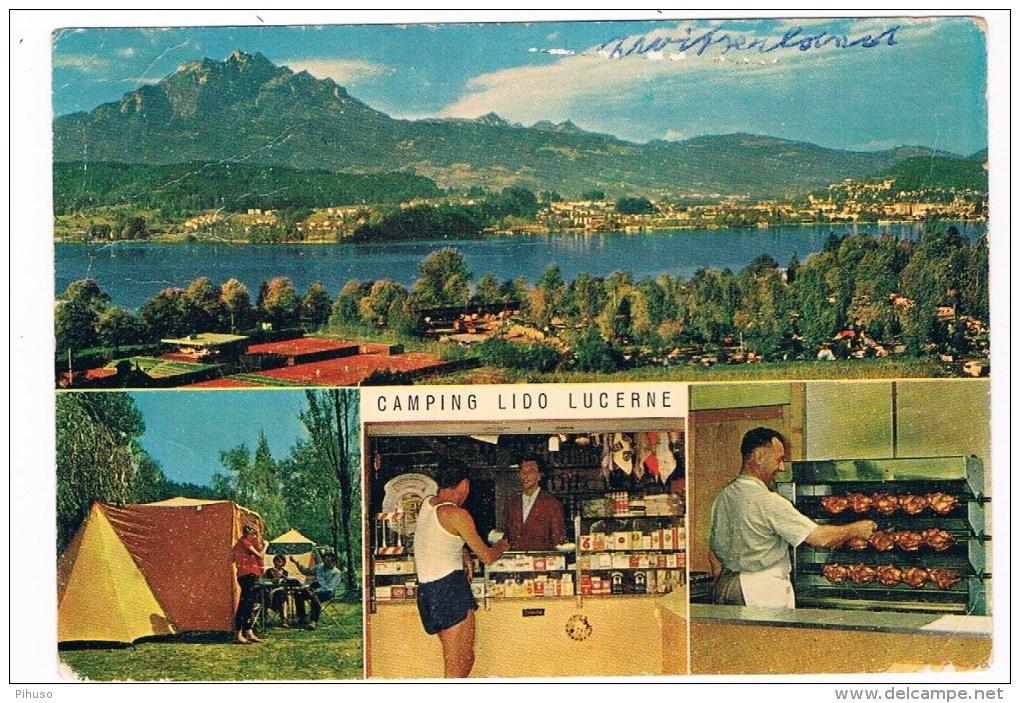CH2752    LUCERNE : Camping Lido - LU Lucerne