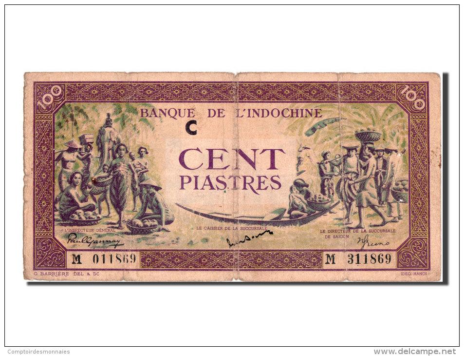 [#81623] Indochine, 100 Piastres Type 1942-45, Lettre C - Indochine