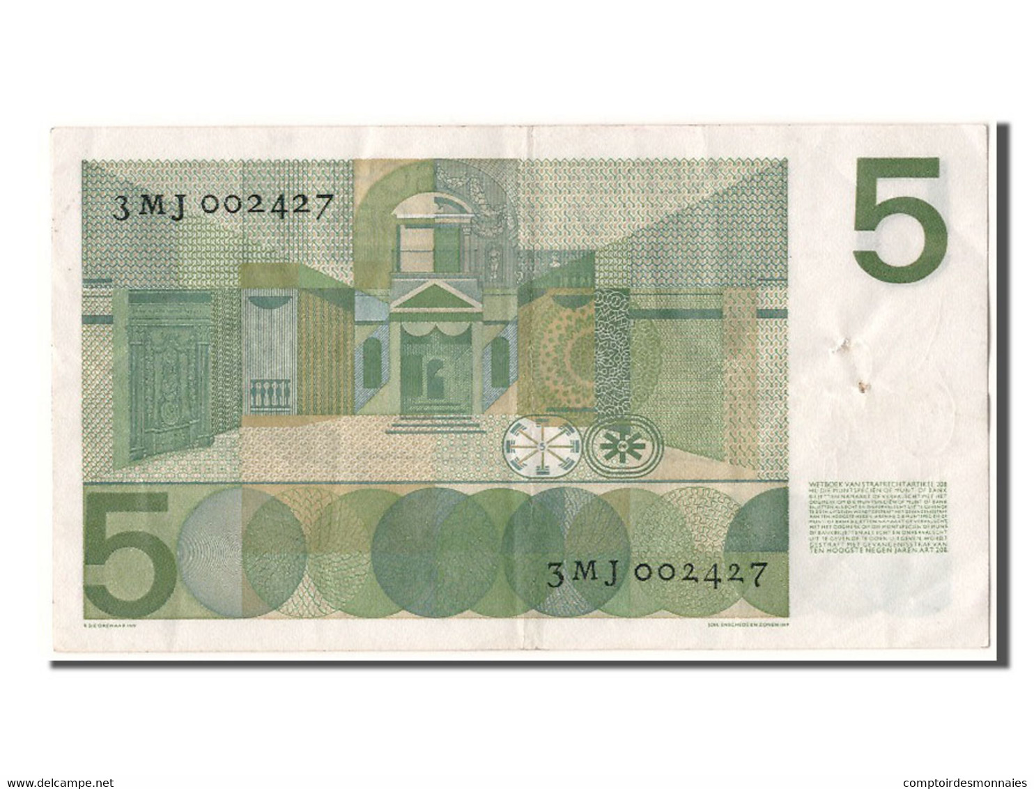 [#303418] Pays Bas, 5 Gulden Type Vondel - [2] 1815-… : Reino De Países Bajos