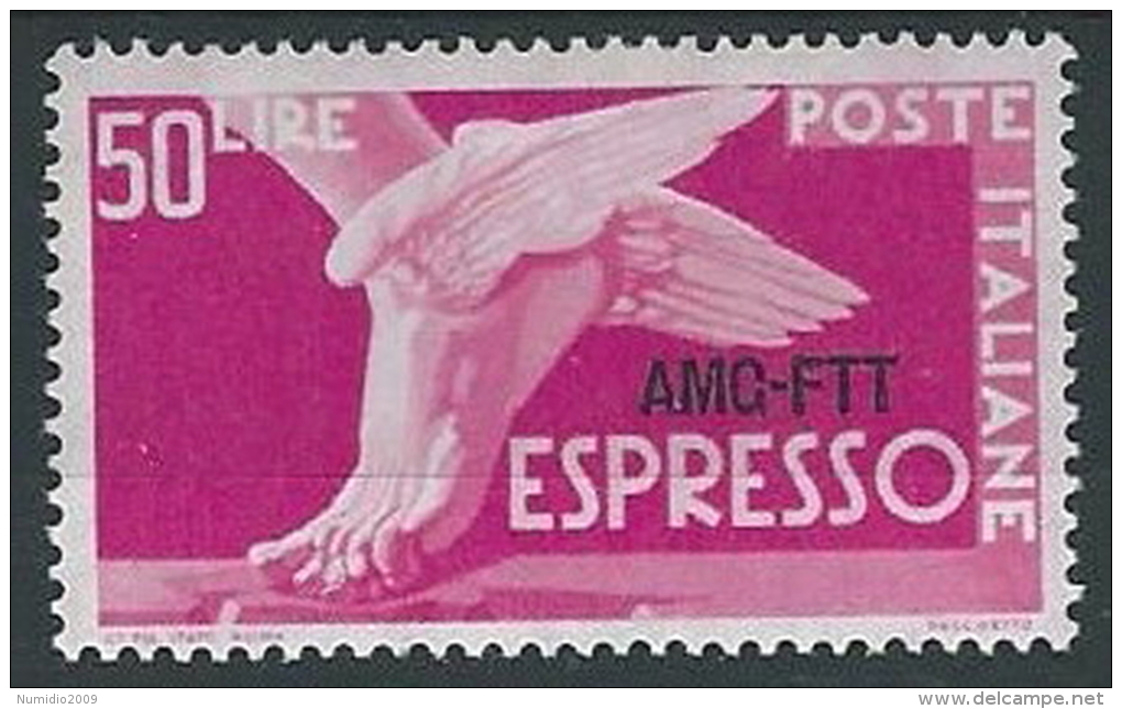 1952 TRIESTE A ESPRESSO 50 LIRE MH * - ED025-4 - 7. Triest